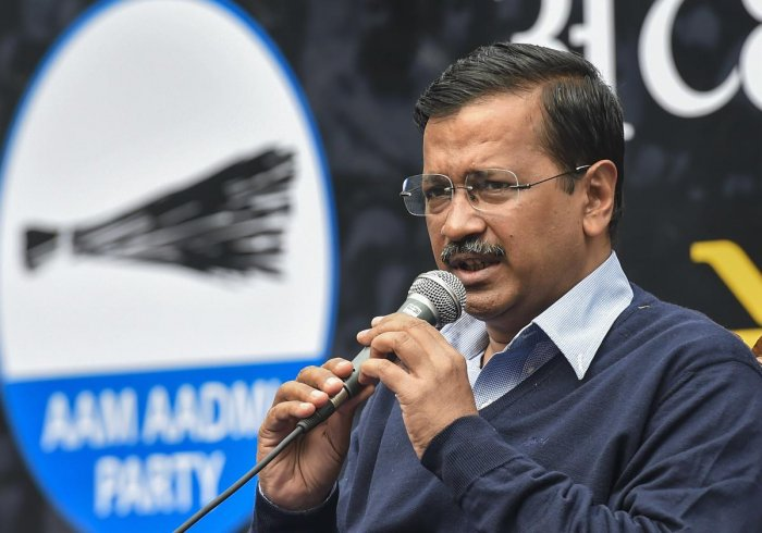 Chief Minister Kejriwal is fighting the polls on the back of his government's ability to deliver on issues such as free electricity, drinking water, better education and healthcare. (PTI Photo)