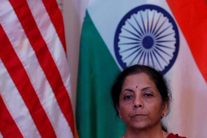 Finance Minister Nirmala Sitharaman. (Reuters photo)