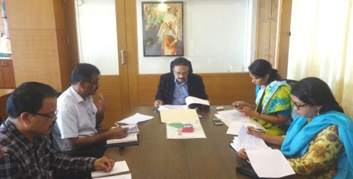 A meeting on electoral roll revisions was held at the DC's office in Madikeri on Tuesday.