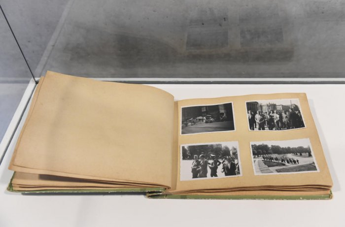 """A general view at the photographs in a glass case after a news conference for the presentation """"The Niemann Collection on the Holocaust and National Socialism"""" in Berlin, Germany, January 28, 2020. (Reuters Photo)"""