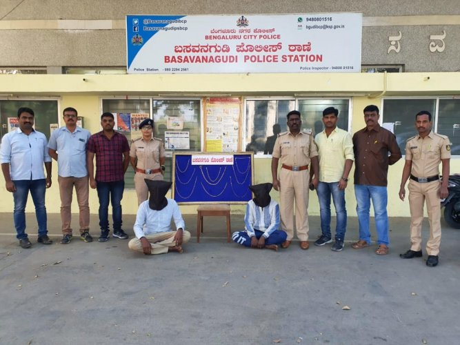 Police formed a special team to apprehend the duo as they suspected their involvement in a recent chain-snatching inNR Colony.