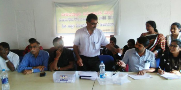 Sites for flood victims were allotted by draw of lots at the office of Nelyahudikeri gram panchayat on Wednesday.