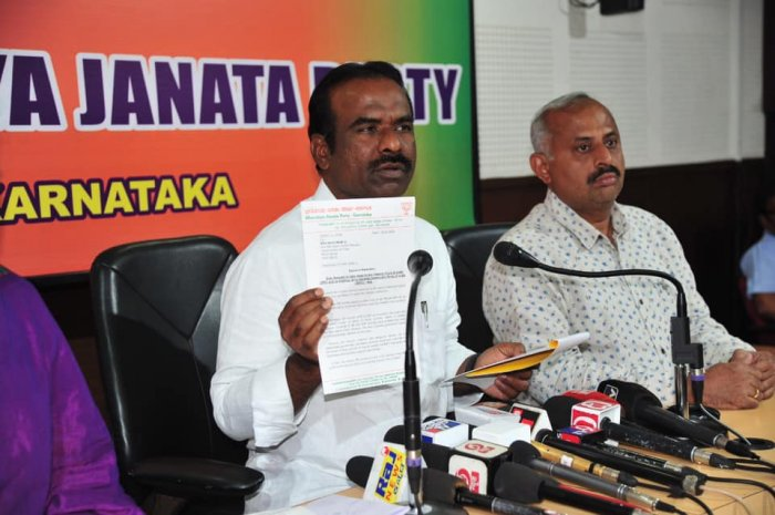 Addressing a press meet, N Ravi Kumar, state general secretary of the party, alleged that there was a nexus between the Congress, thePFIand the SDPI. Credit: Facebook (NRKBJP)