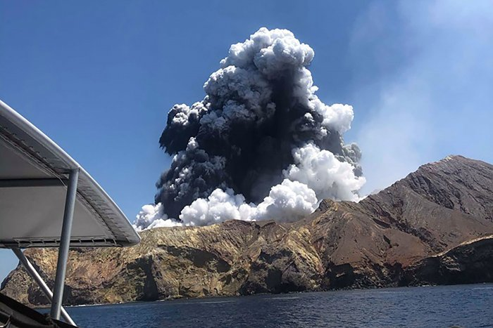 Volcanic eruption in New Zealand. (Photo Credits: AFP)