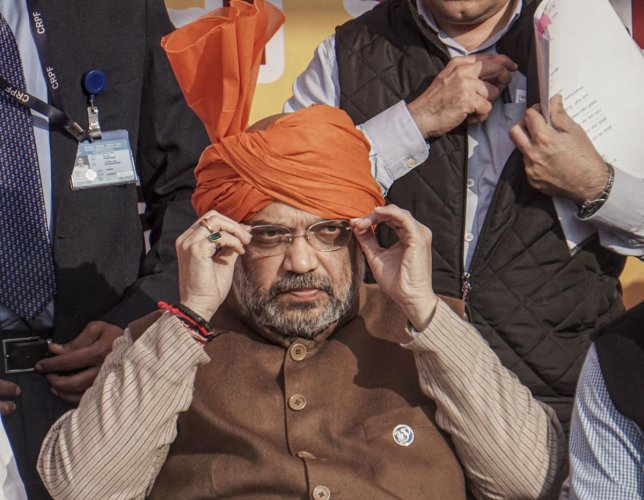 """Shah said Kejriwal had lied that he won't take a government bungalow or a car. """"Now, he has bungalow and car both. Kejriwal is the biggest liar I have seen in my 56 years,"""" the BJP leader said. Credit: PTI Photo"""