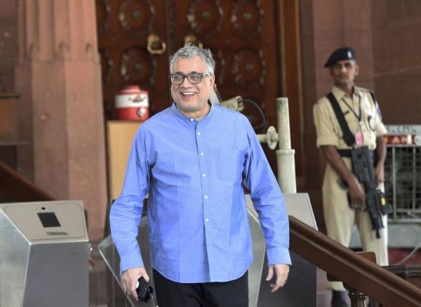 Trinamool Congress MP Derek O' Brien at the Parliament House. (PTI Photo)