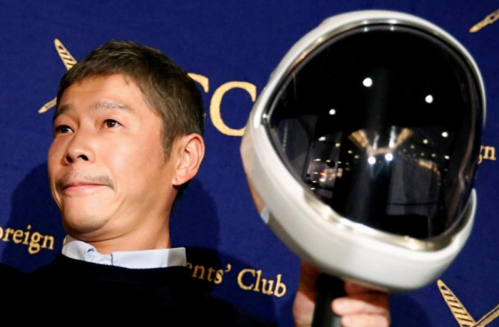 44-year-old Japanesefashion billionaire Yusaku Maezawa announced he was seeking single females over 20 willing to vie to become his girlfriend for a documentary to be aired on streaming service AbemaTV. Almost 28,000 people applied. Credit: Reuters Photo