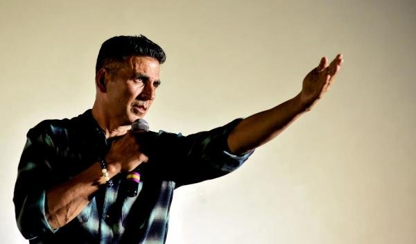 Akshay Kumar speaking at an event(AFP photo)