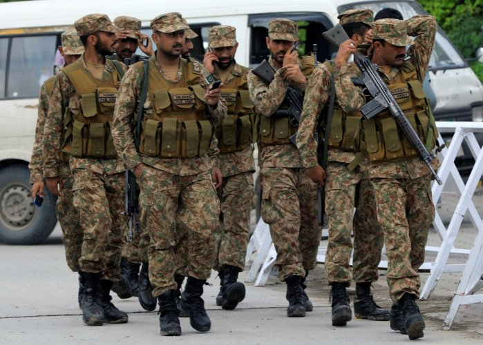 """""""India will start the war, but we will end it,"""" said Ghafoor, who has been posted as the General Officer Commanding Okara in Punjab province, bordering India."""