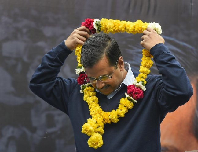 """Recalling his journey on """"serving"""" the nation, Kejriwal said he has sacrificed a lot for the country."""