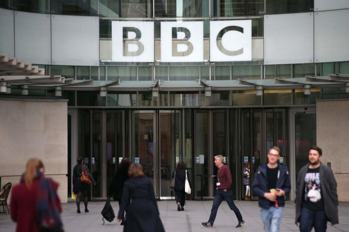 In this file photo taken on October 30, 2017 A general view of the headquarters of the British Broadcasting Corporation (BBC) in London on October 30, 2017. (AFP photo)