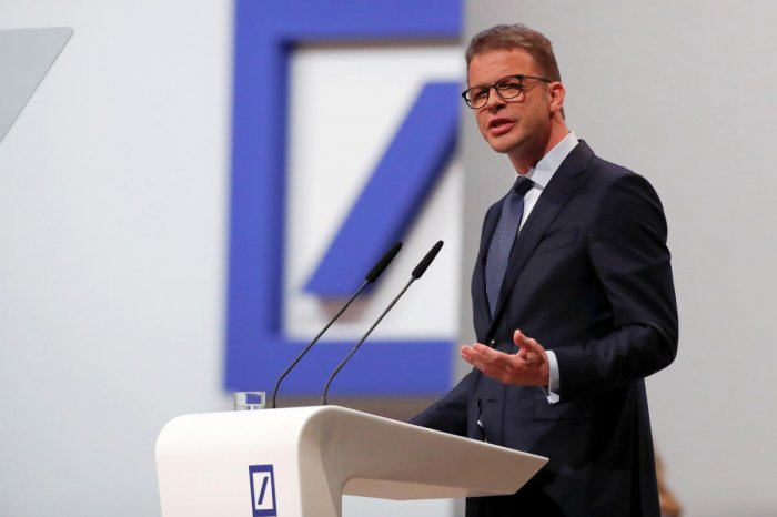 "Asked whether Deutsche would have to those pass negative rates on to customers, Christian Sewing said: ""I think in the broad private customer business, it's not an option in my opinion."" Credit: Reuters Photo"