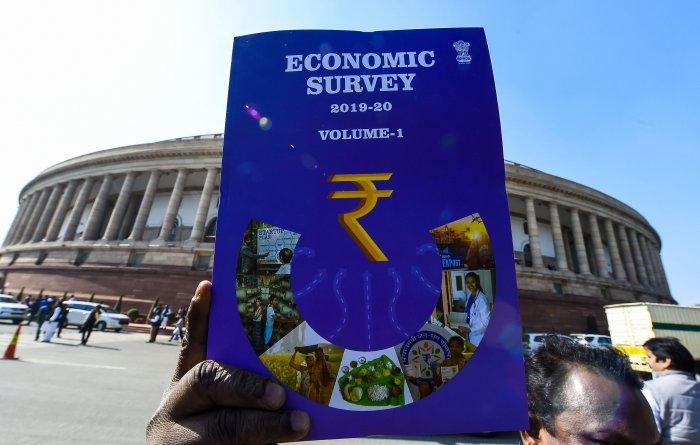 Cover of the first volume of Economic Survey 2019-20. (PTI Photo)