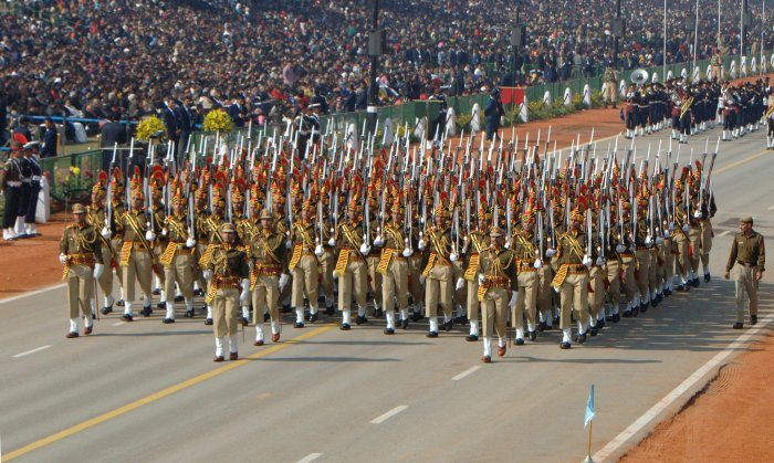 Delhi Police Constables at Republic Day Parade. (Credit: Wikimedia Commons Photo)