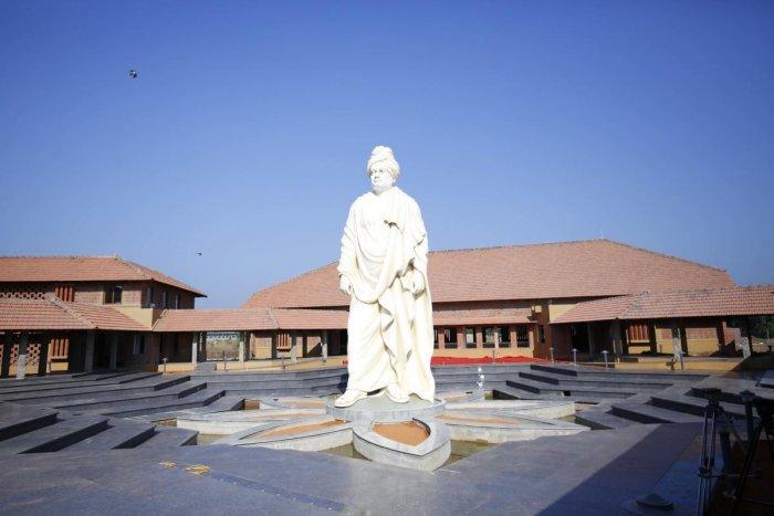 The Swami Vivekananda statue at Giliyaru, Saligrama, Udupi district.