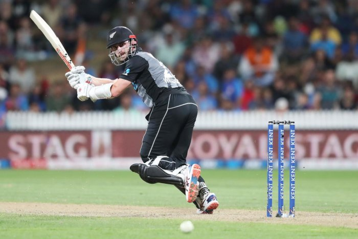 Kane Williamson during the third Twenty20 cricket match between New Zealand and India. (AFP Photo)