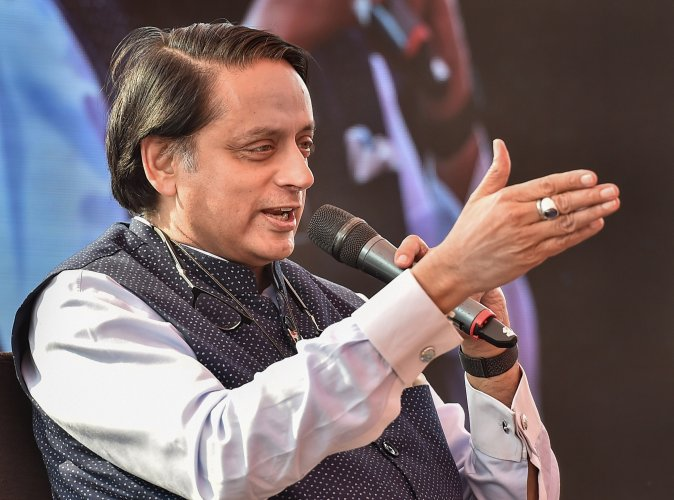 "Tharoor described the government as ""men of straws with limited vision"" and accusing it of driving the economy into the doldrums. (Credit: PTI Photo)"