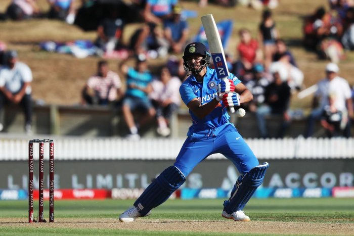 India's Shreyas Iyer bats during the first One Day International cricket match between New Zealand and India at Seddon Park in Hamilton on February 5, 2020. Credit: AFP Photo