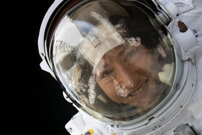 his NASA photo released on February 4, 20202 shows NASA astronaut Christina Koch during a spacewalk on January 15, 2020. AFP/NASA/Handout