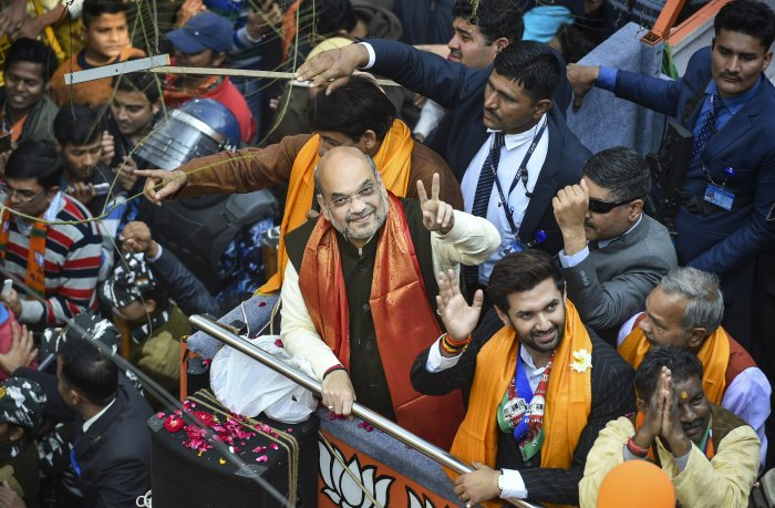 The party has heavily depended on the hardline Hindutva narrative pushed aggressively by Shah, besides his organisational and campaigning skills. (Credit: PTI Photo)