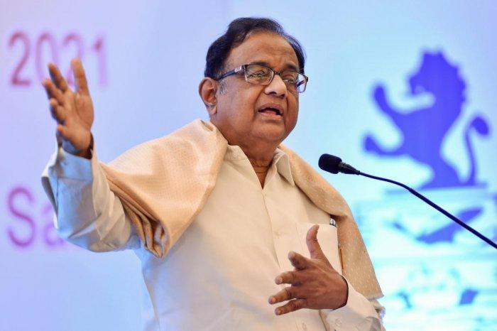 Senior Congress leader P Chidambaram. (PTI Photo)
