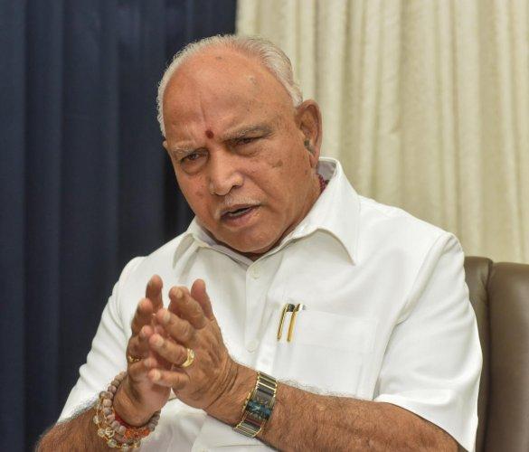 Karnataka CM B S Yediyurappa. (DH Photo)