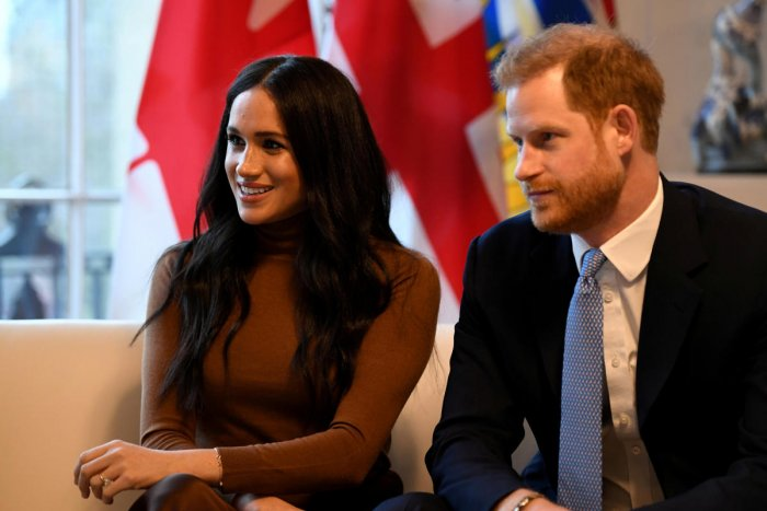 Britain's Prince Harry and his wife Meghan, Duchess of Sussex visit Canada House in London, Britain January 7, 2020. (Reuters photo)