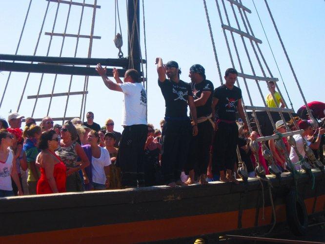 Aboard the pirate ship Djerba Island, Tunisia