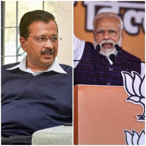 AAP Chief Arvind Kejriwal and Prime Minister Narendra Modi. (PTI Photos)