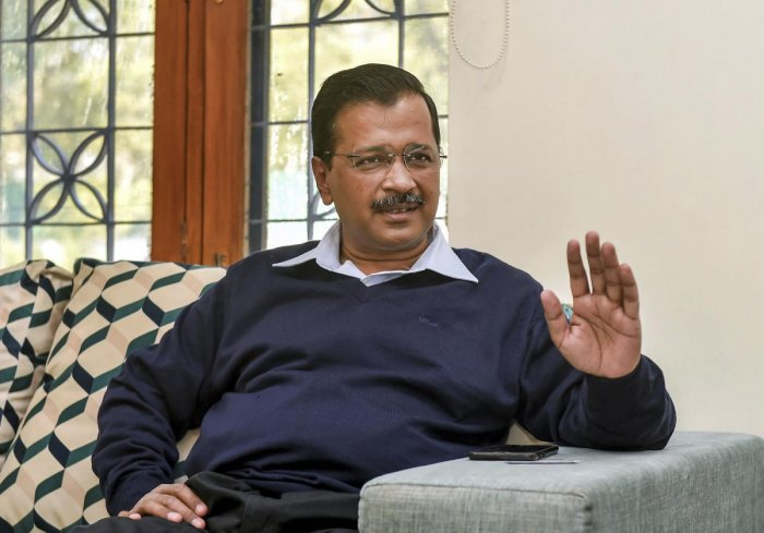 Delhi Chief Minister and Aam Aadmi Party (AAP) National Convenor Arvind Kejriwal. (PTI Photo)