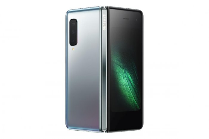 Samsung's new Galaxy Fold smartphone which features the world's first 7.3-inch Infinity Flex Display that works with the next-generation 5G networks (Credit: Reuters)