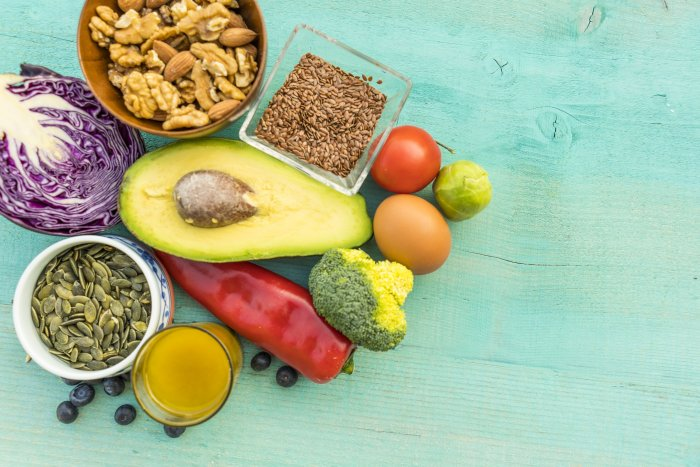 Include protein, fats and veggies in every meal. Stick to your curated grocery list and meal plan.