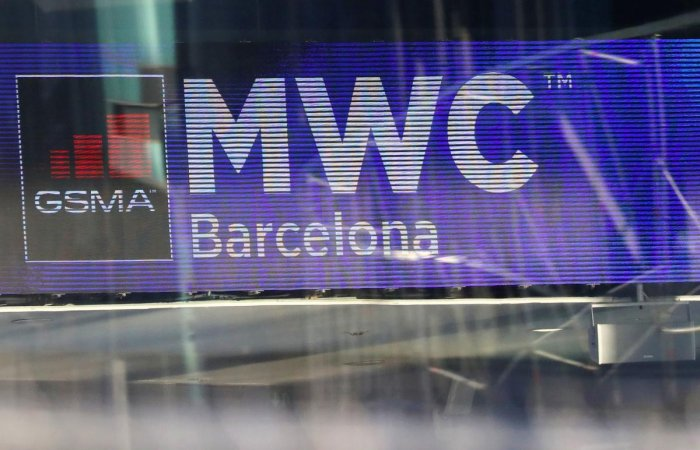The Logo of MWC20 (Mobile World Congress) is pictured in Barcelona, Spain February 10, 2020. (Reuters photo)