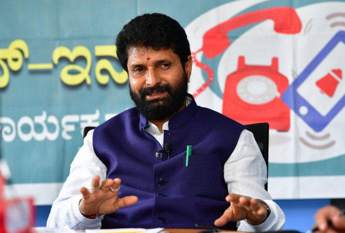 Minister for Kannada and Culture C T Ravi. (DH Photo)