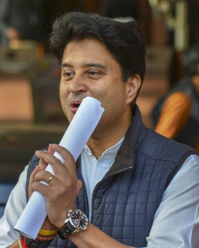 Madhya Pradesh Congress leader Jyotiraditya Scindia. (PTI Photo)