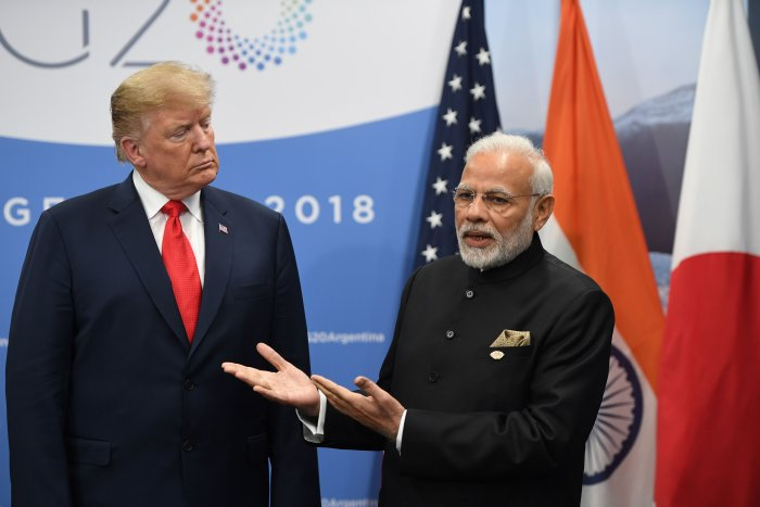 The draft law is not part of the trade discussions, Indian officials say, because the issue is too difficult to resolve at the same time. (Credit: AFP Photo)