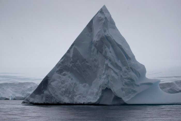 An iceberg floats near Two Hummock Island, Antarctica, February 2, 2020. Picture taken February 2, 2020. (REUTERS Photo)