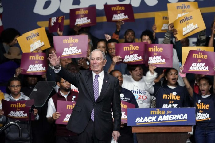 """Democratic presidential candidate and former New York City Mayor Michael Bloomberg waves to the crowd during his campaign launch of """"Mike for Black America,"""" at the Buffalo Soldiers National Museum, Thursday, Feb. 13, 2020, in Houston. (PTI Photo)"""