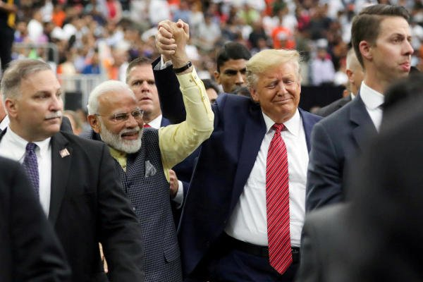 Trump will be shielded from the sight of slums by a newly built wall when he visits the city of Ahmedabad during a visit to India this month. (Credit: Reuters Photo)