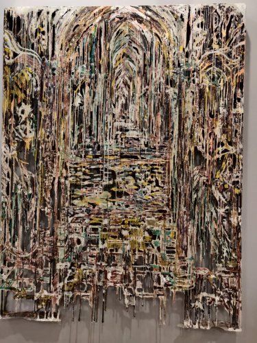 'Green Electric Sounds' by Diana Al-Hadid