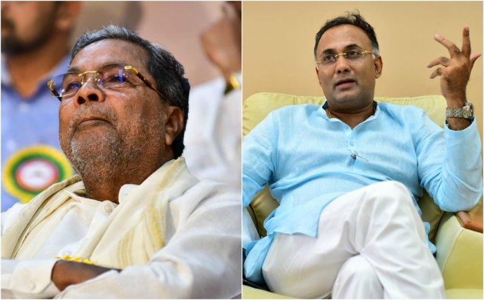 Karnataka Congress leaders Siddaramaiah, Dinesh Gundu Rao