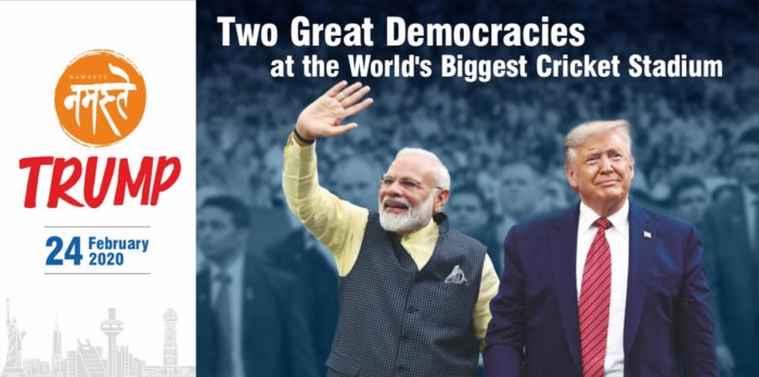 Image result for donald trump india tour : who are patriots and who are not