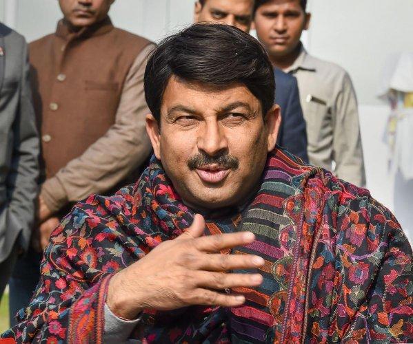 BJP Delhi unit president Manoj Tiwari