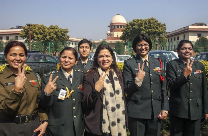 Advocate Meenakshi Lekhi, who appeared for women officers, said the apex court judgment has given equal rights to the women officers as their male counterparts. Credit: PTI Photo