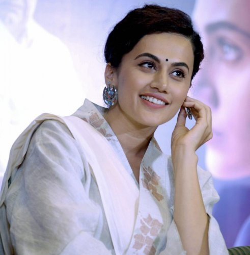 Bollywood actress Taapsee Pannu at a promotional event for their film 'Mulk', in New Delhi on Monday, July 23, 2018. (PTI Photo)
