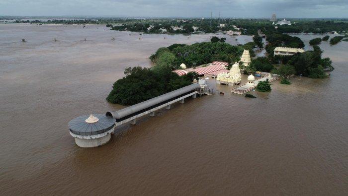 A file photo of Kudalasangama during last year's floods.