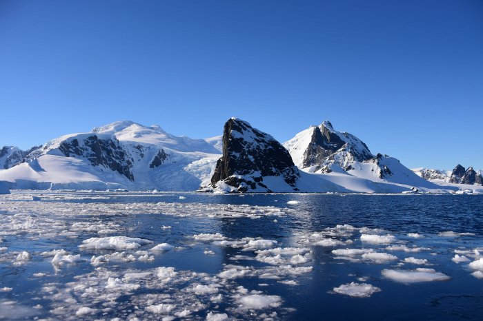 View of Orne Harbour in South Shetland Islands, Antarctica. (AFP Photo)