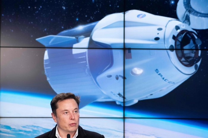 NASA has softened its stance on space tourists, and is opening the station doors to paying customers once commercial crew flights by SpaceX and Boeing have been established. (Credit: AFP Photo)