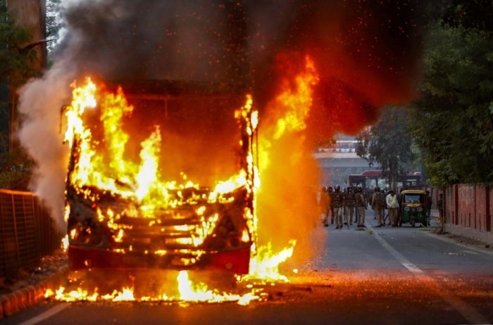 The court also asked as to how buses were burnt during the protests. Photo/PTI