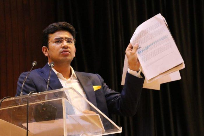 MP Tejasvi Surya. (DH Photo)